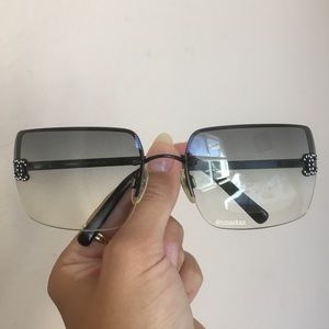 Authentic Chanel Crystal Rimless 4092-B Sunglasses